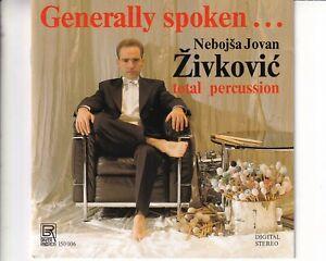 CD NOBOJSA JOVAN ZIVKOVICgenerally spoken -it's nothing but rhythmEX+ (B8155)