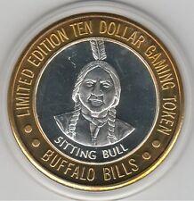 VINTAGE 1994 Buffalo Bill's Jean NV Sitting Bull .999 Fine Silver $10 Token