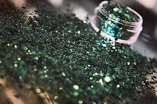Grado cosmético exclusivo Bizzy Uñas Glitter Uñas Gel/Acrílico Green Envy
