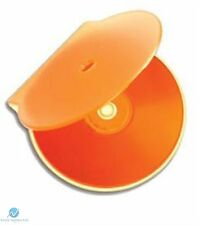 500 TINTA UNITA ARANCIONE Clam Shell in plastica di alta qualità Custodia Singola CD DVD memoria su disco