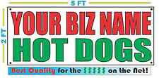 CUSTOM NAME HOT DOGS Banner Sign NEW Larger Size Best Quality for the $$$