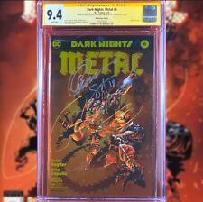 DARK NIGHTS METAL #6 GOLD FOIL VARIANT COVER CGC 9.4 SS SNYDER CAPULLO GLAPION