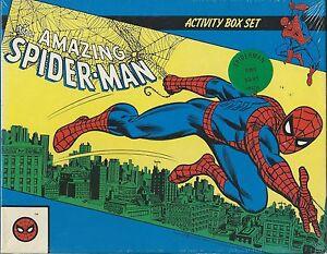 AMAZING SPIDERMAN ACTIVITY BOX SET CROSSWORDS PUZZLES GAMES 4 BOOKS SEALED NEW