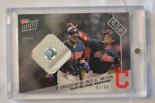 2017 Topps Now Game Used Base Relic #594A Cleveland Indians Win Streak # to 99