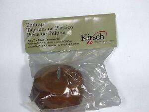 "Kirsch Wood Trends Classics 2"" POLE ENDCAP MPN 46808.085 WALNUT - 1 Piece"