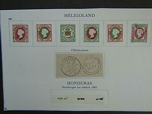 HELIGOLAND - EARLIES ON ALBUM PAGE - ALL FOURNIER FORGERIES