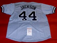 REGGIE JACKSON AUTOGRAPHED NEW YORK YANKEES JERSEY JSA MR OCTOBER