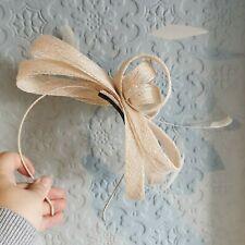 Debut Head Band Fascinator Dusky Pink Nude Wedding Mother Of The Bride
