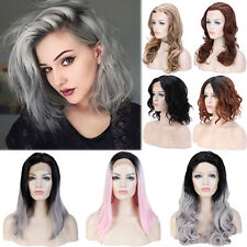 Women Lace Front Full Wig Short Hair Bob Style Heat Resistant Synthetic Wigs LC