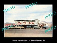 OLD LARGE HISTORIC PHOTO OF DRAGOON ARIZONA VIEW OF THE THING TOURIST PARK 1960