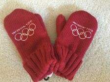 New Vancouver Winter Olympics 2010 Mittens Size lg/XL Team Canada Red Gloves