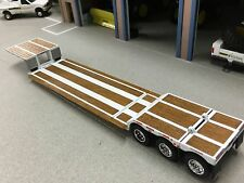 1/64 DCP WHITE FONTAINE RENEGADE TRI AXLE STRETCH LOWBOY TRAILER