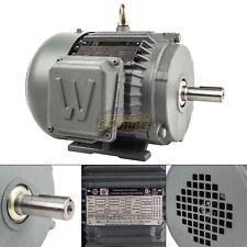 1 Hp 3 Phase Electric Motor 1800 Rpm 143t Frame Tefc 230460v Premium Efficiency