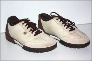 TIMBERLAND Sneakers Lacets Cuir Peau Beige Marron T 8.5 US / 42 FR  TBE