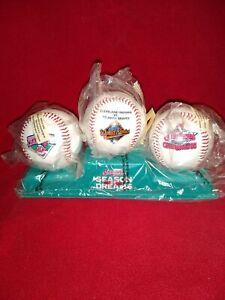 Cleveland Indians 1995 Season Of Dreams 3-Commenerative Baseballs & Stand Tote U