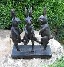 Dancing Bunny Rabbit s STATUE*Primitive/French Country/Urban Farmhouse Decor