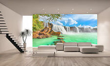 Photo Wallpaper  Waterfall  WALL DECOR PAPER POSTER FOR BEDROOM Free Paste