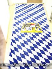 Fahne Flagge Bayern Bavaria Lion Hoch Mit 4 Hacken und Ausleger - 120 x 290 cm