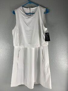 Nike Golf Flex Ace Tennis Golf Dress White CI9806-100 Women's NWT $120