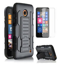 For Nokia Lumia 630 635 Heavy Duty Hybrid Armor Hard Stand Cover Shockproof Case