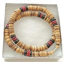 """Black Brown 8mm Coco Wood Beads  Necklace Men's Teen's Surfer Choker Wooden 18"""""""