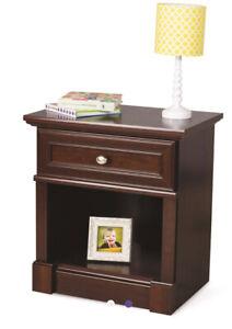 """Child Craft Bradford Nightstand Cherry Wood 24""""H 23""""W 1 Drawer New in Box ✨"""