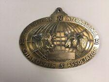 Rare American International Charolais Assoccation Plaque, Bronze? Brass? Farmer