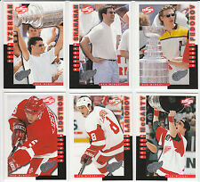 *COMPLETE* (20) card DETROIT RED WINGS 1997/98 Score SPECIAL ISSUE Team Set WOW!