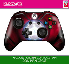 KNR6616 PREMIUM XBOX ONE CONTROLLER SKIN IRONMAN IRON MAN CREST
