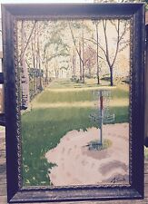"""Rolling Hills Hole #1 by John Senk Oil Painting w/frame 24"""" x 36"""" Shipping Free"""