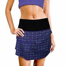 Womens Tennis Golf Skirt Skort Athletic Printed, Pockets, Built in Shorts Large