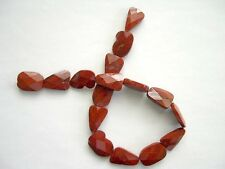 Sale!!! Red jasper faceted flat nugget beads 16x25 mm. Natural gemsstone beads