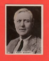 1920's 91. Hobart Bosworth  BAT CINEMA STARS, SET 6A  Film Card Rare
