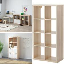 Ikea KALLAX Shelving Unit White Stained Oak Effect Home Storage Organiser 77x147