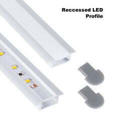 Aluminium LED Strip Profile Recessed Lights Cover Channel Track 1M 2 Metres