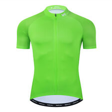 Cycling Jersey Bike Clothing Short Sleeve Bicycle Jerseys Shirt Green XXL Size