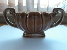 Genuine Vintage WADE Small Brown Posy Vase Two Handled