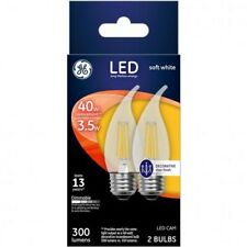 GE 23100 LED Cam Light Bulb, Soft White, Clear, 40 Watts, 300 Lumens, 2-Pack