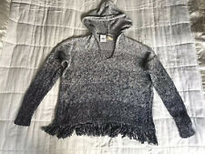Womens Hollister Knitted Grey Hoodie Jumper Size Small BNWT