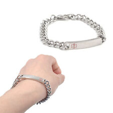 Stainless Steel Bracelet Engraving Emergency Medical ID Alert Bangle  Wristband