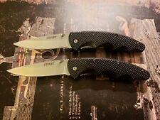 New Coast LX311 2 Pc. Set Folding Pocket Knife W/ Belt Clip