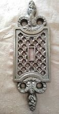 Vintage EDMAR Single One Toggle Switch Plate Cover 50T Metal Weave Sconce-Like