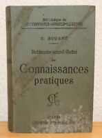 Dictionnaire Manuel illustré des Connaissances Pratiques - 1901 - Bouant - BAG