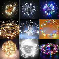 20/30/40 LED BATTERY OPERATED MICRO CLEAR WIRE STRING FAIRY PARTY X'MAS WEDDING