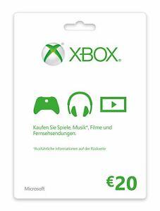 Xbox Live Guthaben 20 Euro Xbox Live Code Email Lieferung