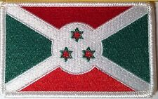 BURUNDI Flag Patch With VELCRO® Brand Fastener  Military Tactic Emblem #5