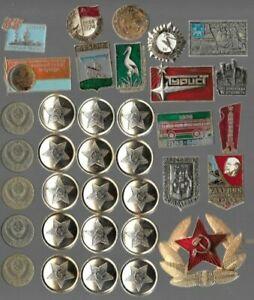 Rare LENIN Medal Pin Badge Button COLD WAR Russia CCCP Coin Collection Lot AB36