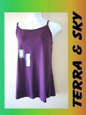 WOMEN'S PLUS SIZE 2X 3X  20W 22W GRAPE WINE SUMMER LONG CAMI SHIRT  CLOTHING NEW