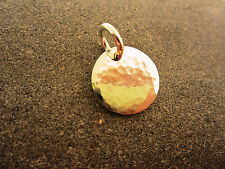 YOLLA Hammered Pure Sterling Silver Circle Disc Pendant - USA