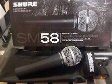 SHURE SM58 dinamico microfono vocale con clip e custodia (Nuovo Di Zecca)